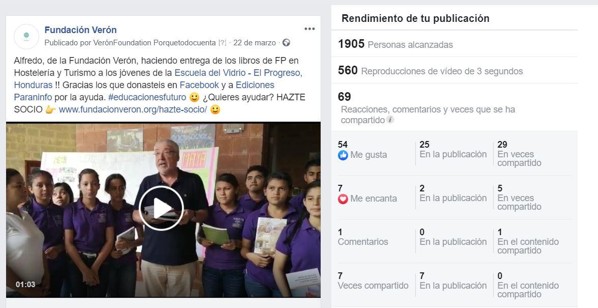 Entrega de Libros. Donación Fundación Verón y Ediciones Paraninfo 2019